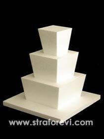 PST-19''Üç katlı dikey açılı maket pasta''