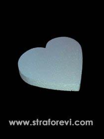 Strafor Kalp Pasta Altlığı 30cm x 3cm yükseklik