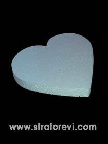 Strafor Kalp Pasta Altlığı 40cm x 3cm yükseklik