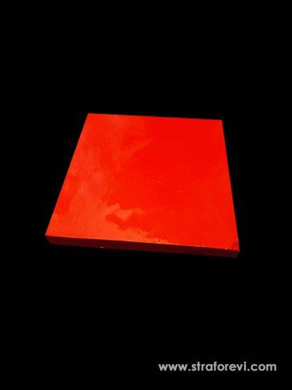 Kare Strafor Pasta Altlıkları 30cmx30cm Kırmızı