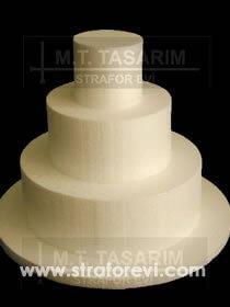 PST-04 '' Üç Katlı Maket Pasta Midi Boy ''