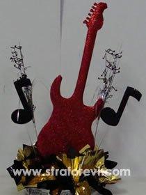 simli kaplamalı elektro gitar maketi