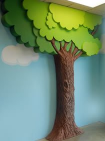 strafor ağaç maketi