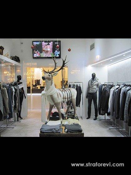 Yılbaşı 2018 Strafor Geyik Maketi - Mağaza Dekorları