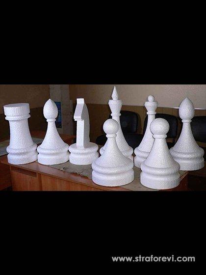 Satranç Taşları Konsepti  Strafor Maket Ürünler - Mağaza Vitrin Dekorları