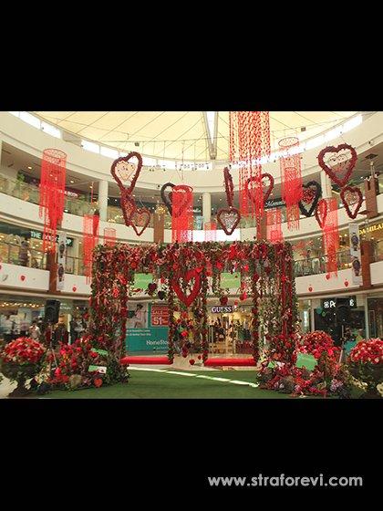 Sevgililer Günü 2018 Avm, Mağaza Vitrin Dekorları