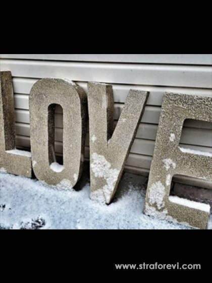 Avm Sevgililer günü konsepti LOVE Yazı 2018