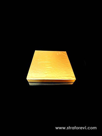 Kare Strafor Pasta Altlığı 20cm x 20cm Gold