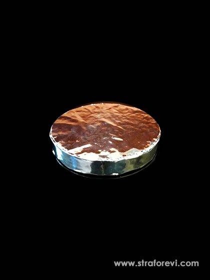 Daire Yuvarlak Pasta Altı 20cm çap Gümüş