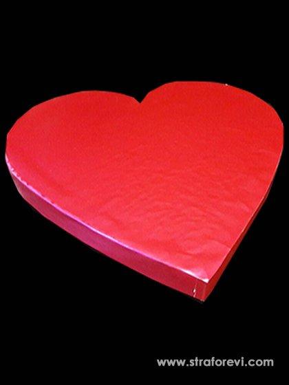 Kalp Strafor Pasta Altlığı  40cmx40cm Fuşya
