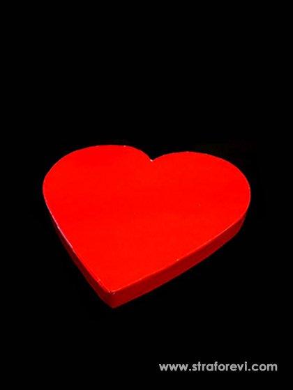Kalp Strafor Pasta altlıkları 30cmx30cm Kırmızı
