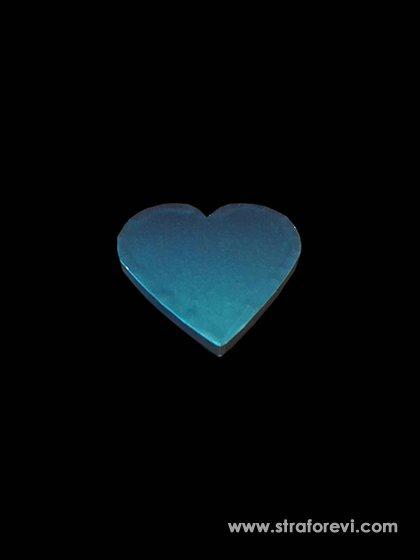 Kalp Strafor Pasta altlıkları 20cmx20cm Mavi