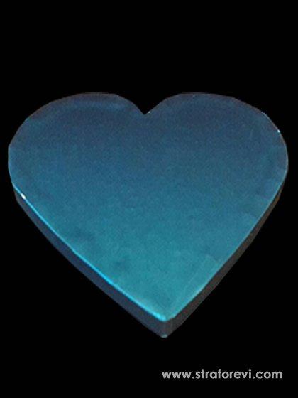 Kalp Strafor Pasta altlıkları 40cmx40cm Mavi