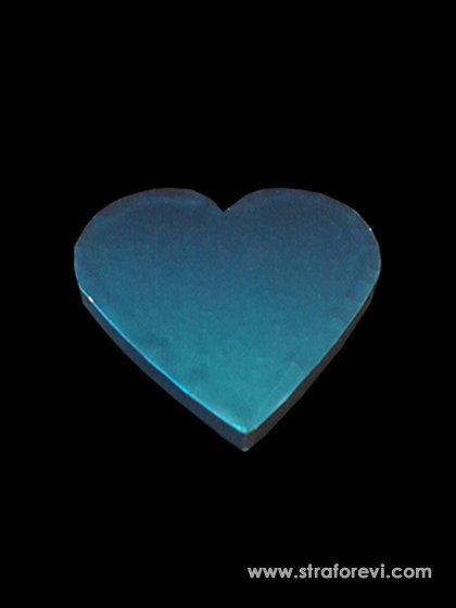 Kalp Strafor Pasta altlıkları 30cmx30cm Mavi
