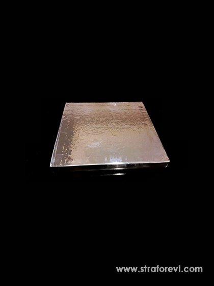 Kare Strafor Pasta Altı 20cmx20cm Gümüş