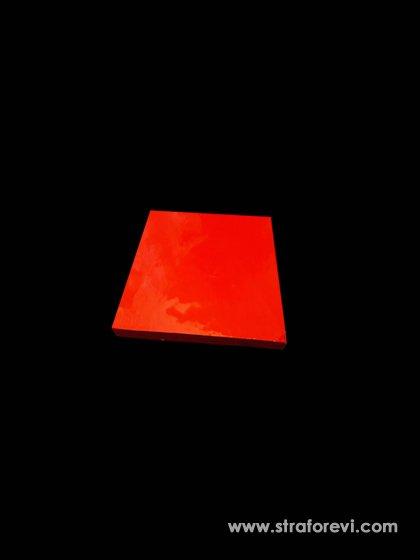 Kalp Strafor Pasta Altlıkları 20cmx20cm Kırmızı