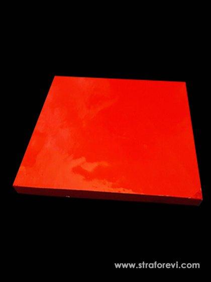 Kalp Strafor Pasta altlıkları 40cmx40cm Kırmızı